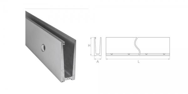 Profil aluminiowy - mocowanie boczne